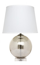 Bocce Antique Silver Table Lamp