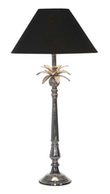 Nickel Pineapple Leaf Table Lamp - Black