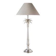Nickel Pineapple Leaf Table Lamp - Natural