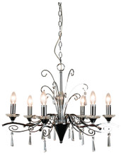Faranca 6 Light Chrome Crystal Chandelier