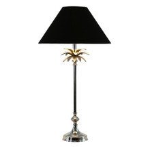 Nickel Palm Leaf Table Lampe - Black