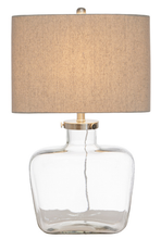 Fillable Bottle Lamp with Linen Shade