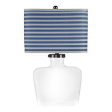 Fillable Bottle Lamp with Stripe Blue Shade