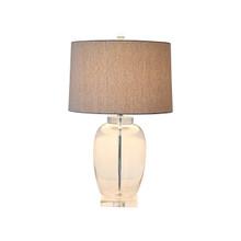 Crystal Base Glass Table Lamp