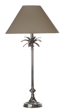 Nickel Palm Leaf Table Lampe - Taupe
