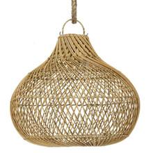 Rattan Bulb Pendant Light - Natural
