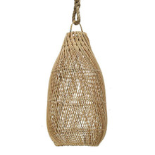 Taller Open Weave Pendant Light - Natural