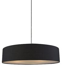 Mara Drum Pendant Light -- Black