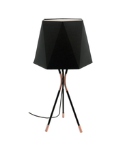 Panama Tripod Black Table Lamp