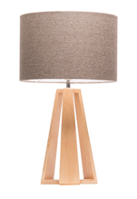 Trinity Tripod Timber Table Lamp in Oak