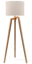 Tarifa Tripod Timber Floor Lamp