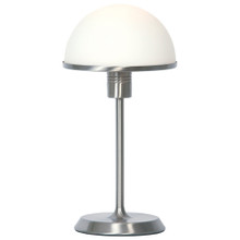 Corona 3 Stage Touch Table Lamp in Brushed Chrome