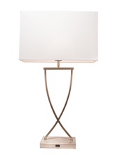 Aristo Table Lamp with USB Port  in Chrome