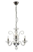 Traditional Glass 3 Light Pendant Chandelier