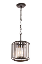 Olympia Metal and Crystal 1 Light Pendant