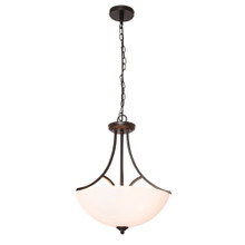 Atlanta 3 Light Victorian Pendant Light in Black