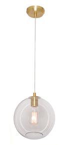 Milan 1 Light Pendant Light in Brass