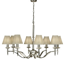Stanford 8 Light Polished Nickel Chandelier by Viore Design