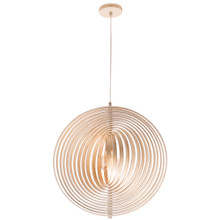 Oasis Spiral Plywood Pendant Light