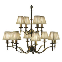 Stanford 12 Light Brass Chandelier by Viore Design