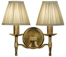 Stanford 2 Light Brass Wall Lamp