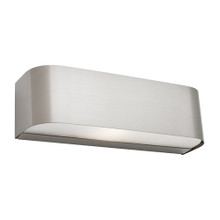 Benson Frost Glass Wall Light - Satin Chrome