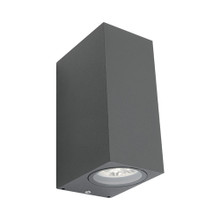Brugge 2 Light Exterior Wall Light - Charcoal