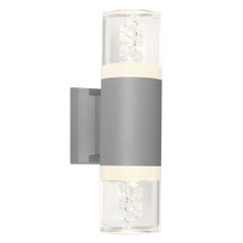 Calgary 2 Light Exterior Wall Light - Silver