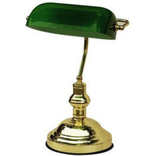 Bankers Touch Table Lamp in Green