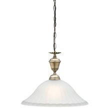 Edgewood 1 Light Antique Brass Pendant Light