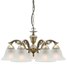 Edgewood 5 Light Antique Brass Pendant Light