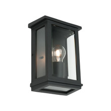 Madrid Small Clear Bevelled Wall Light - Black