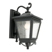 Nottingham Clear Stripped Exterior Wall Light - Black