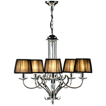 Zoya 5 Light Nickel Chandelier Black By Viore Design