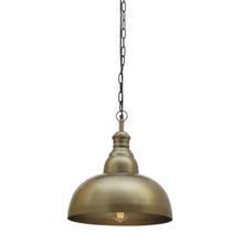 Grande Antique Brass Pendant Light