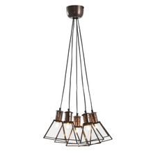 5 Light Industry Cluster Pendant Light