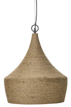 Mission Wrapped Rope Pendant Light