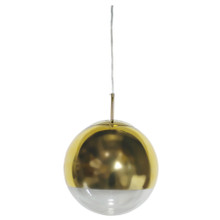 Helmet Gold Ball Pendant Light