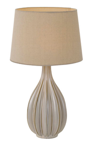 Avero Ceramic Table Lamp - Champagne