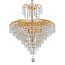 Cascade 4 Light Crystal Strands Chandelier - Gold