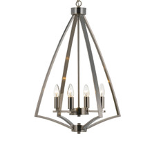 Hawa 4 Light Matte Nickel Pendant Chandelier