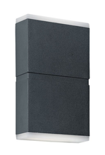 Block Up Down Square Exterior Wall Light