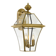 Classic Boston Antique Brass Large Wall Lamp