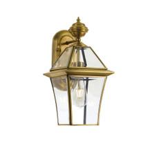 Classic Boston Antique Brass Small Wall Lamp