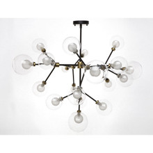 Celeste Frosted White Glass Chandelier
