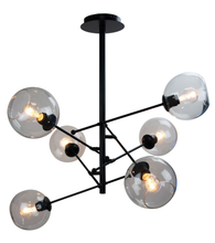 Ripley 6 Light Black Satellite Pendant Light