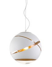 Matrix White Gold Ball Pendant Light