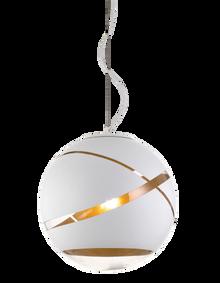 Matrix White Gold Ball Pendant Light