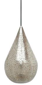 Akesh Nickel Perforated Teadrop Pendant