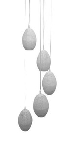 Constellation White Perforated Cluster Pendant Light